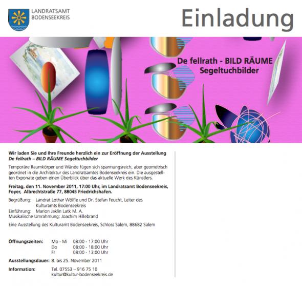 """""""BILD RÄUME"""" Kulturamt Bodenseekreis"""